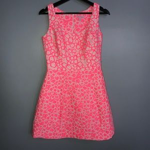 Lilly Pulitzer Pink And White Joslin Dress